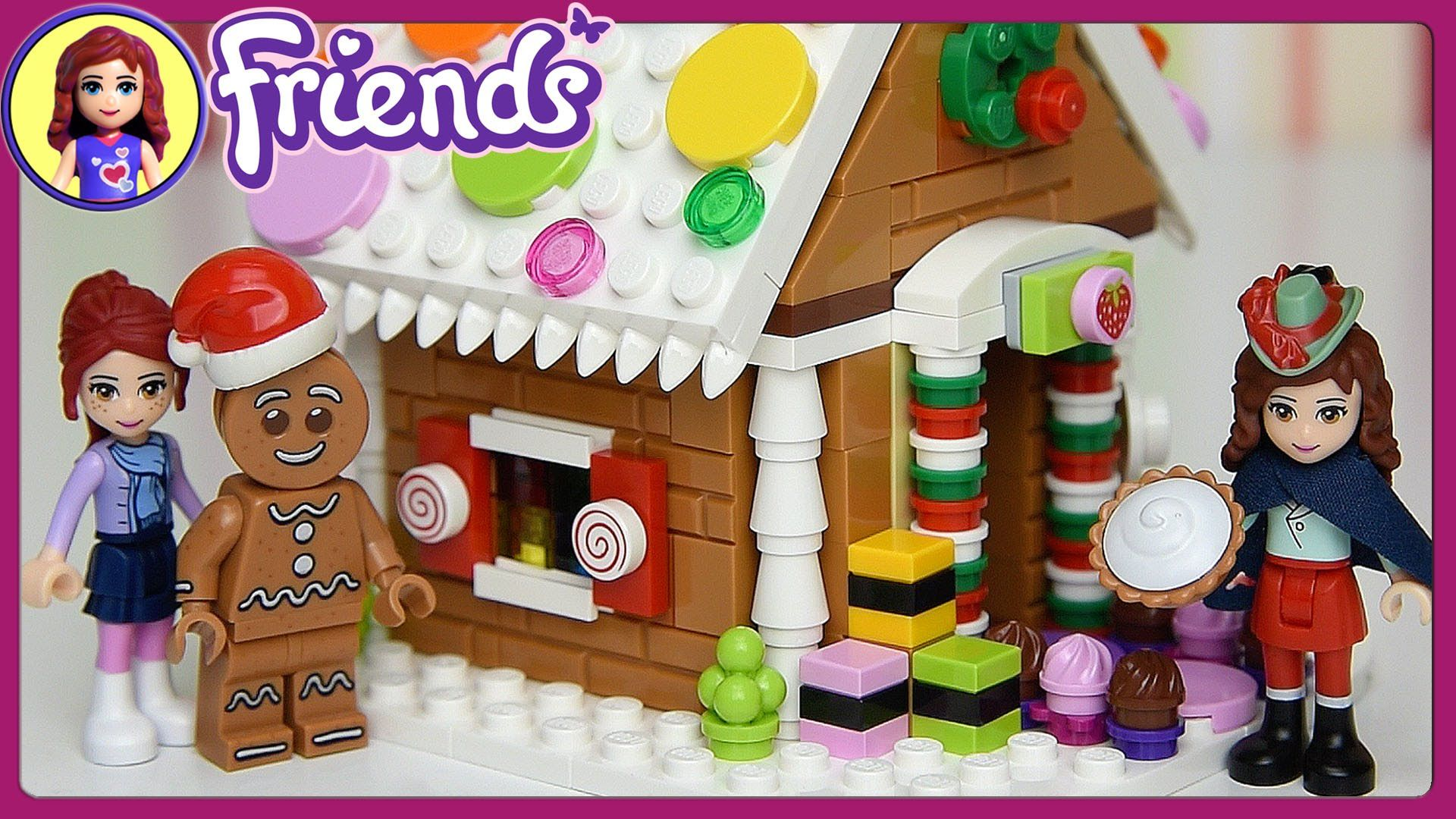 Lego Friends Build Christmas Gingerbread House Set Build