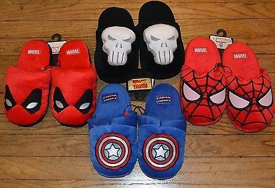 #Popular - MARVEL COMICS PLUSH SLIPPERS Choice Punisher Captain America Deadpool Spiderman  http://dlvr.it/Mcpt5j - http://Ebaypic.twitter.com/yG6AhdJQ7o