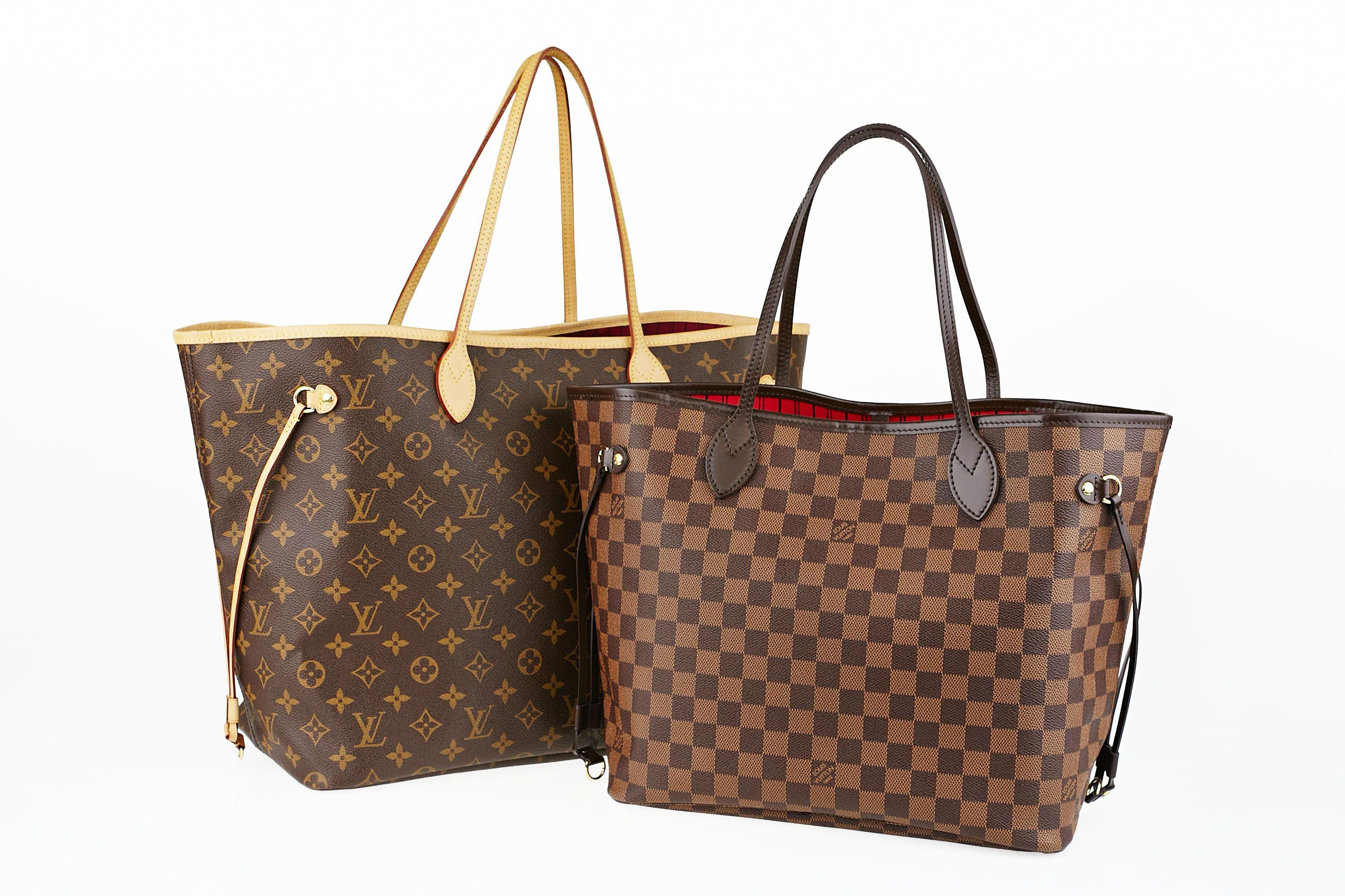 89a58e73462 Louis Vuitton Monogram Canvas Neverfull GM and Damier Neverfull MM Tote Bags