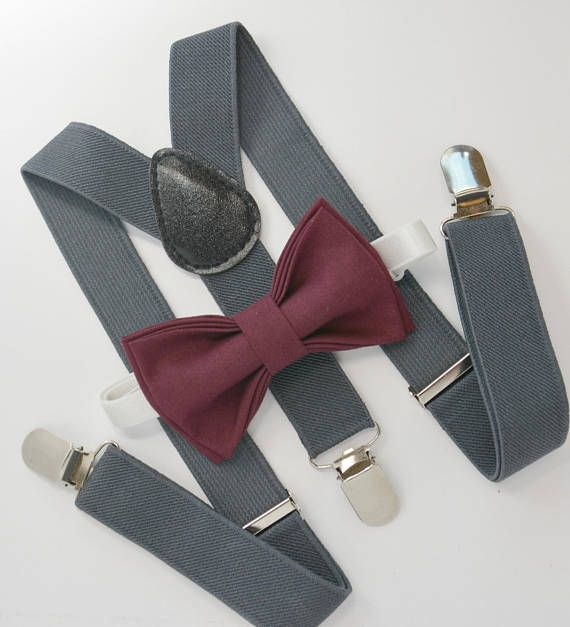Bow Tie Pre-Tied for Baby Toddler Boy Teen Men 18 mo - 12 yrs 2. Boy , Burgundy Bow Tie Made in USA