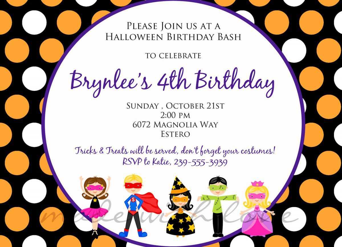 Nice Best Kids Birthday Invitation Wording