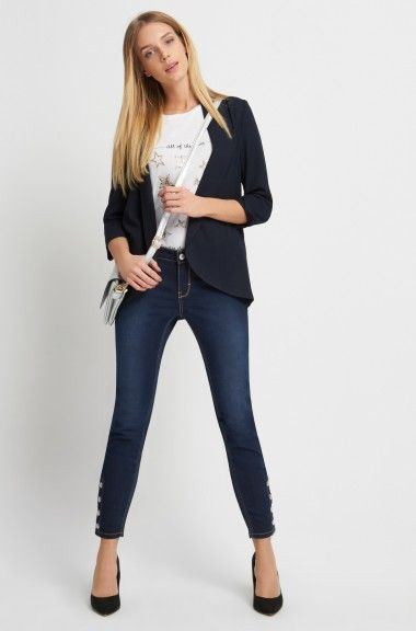 ORSAY JEANS | Skinny Jeans with button details #denim #mywork #fashiondesigner #ootd