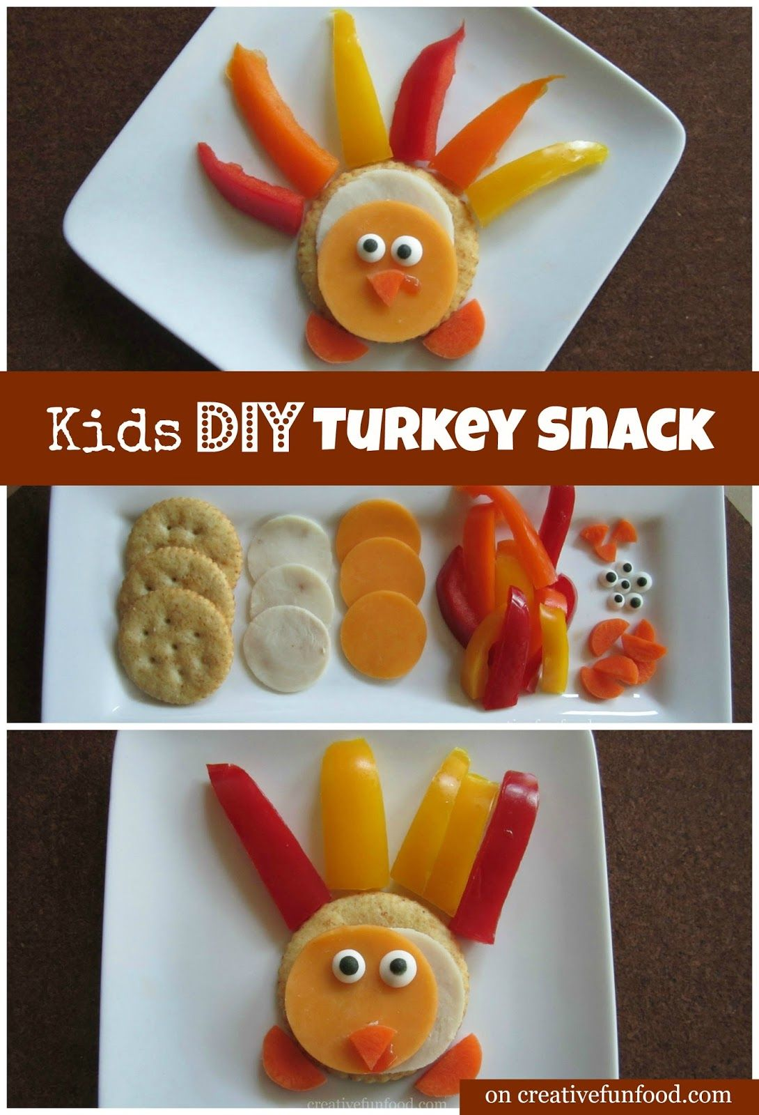 Kids Diy Turkey Snack A Simple And Healthy Snack Idea For