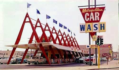 Metropolitan Car Wash In Los Angeles Ca Googie Architecture Googie Car Wash