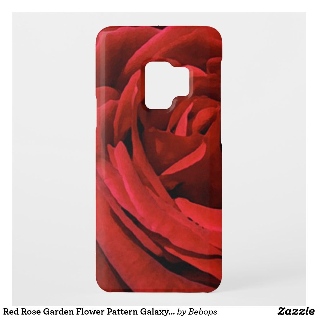 Red Rose Garden Flower Pattern Galaxy S9 Case is part of Red Rose garden - This elegant floral Samsung Galaxy S9 case takes you inside a gorgeous red rose  The perfect gift for gardeners and all flower lovers!