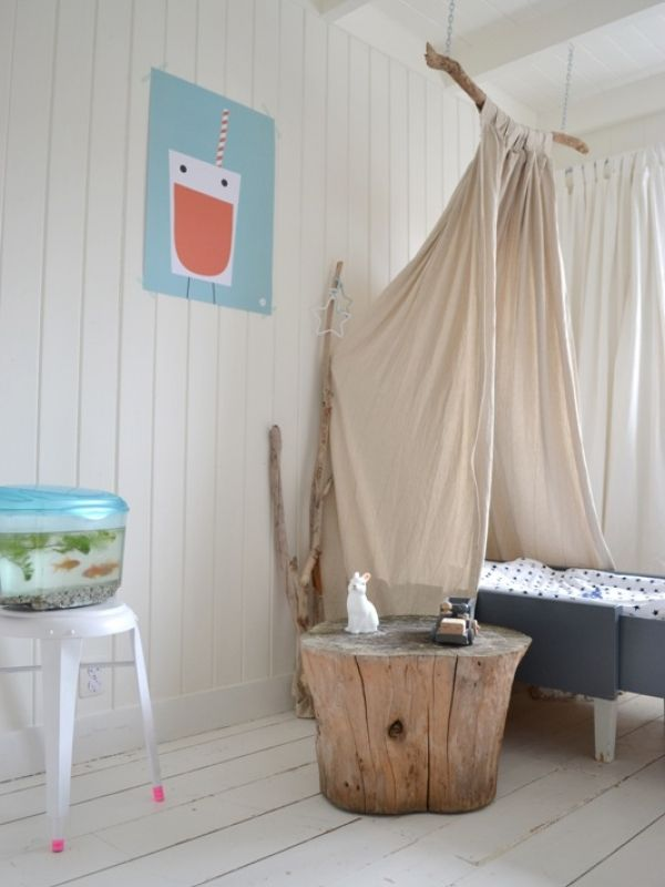 Branch Canopy, Stump Table And Simple Fish Tank Make A Childu0027s Room  Naturally Fun