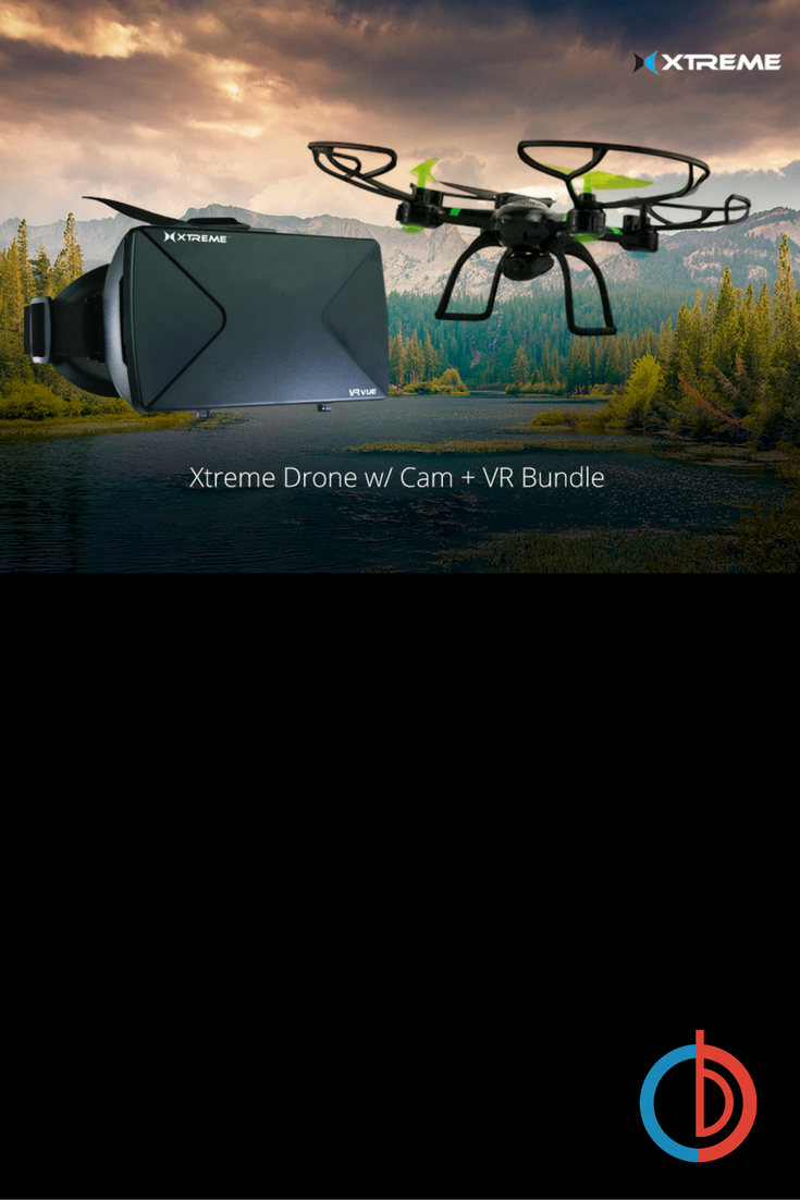 Ready-To-Fly 2.4Ghz 6 Axis Gyro Aerial Quadcopter Drone w/ Cam +VR ...
