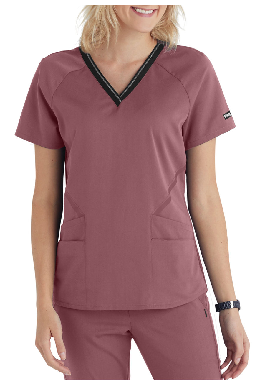 Landau ScrubZone Women/'s Short Sleeve V-Neck Scrub Top 70221 FREE SHIPPING