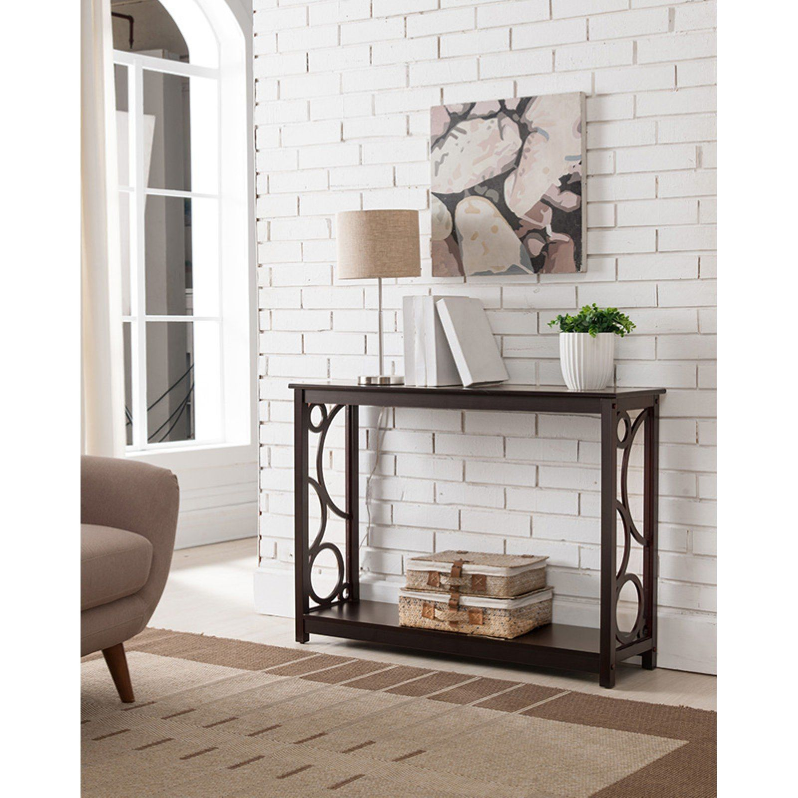 k b furniture dark cherry wood console table in 2019 products rh pinterest com