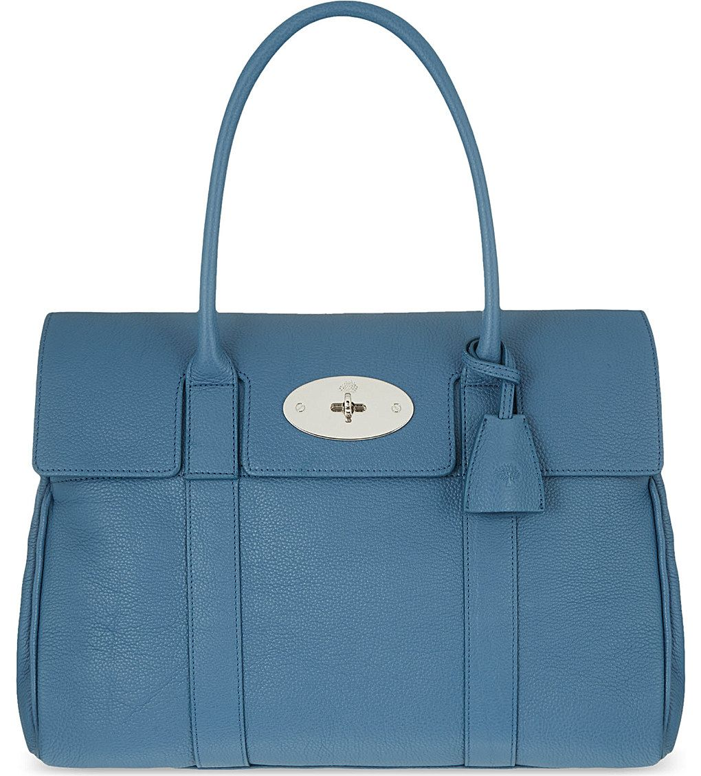 fade2914a8 Bag · MULBERRY - Bayswater small grained leather ...