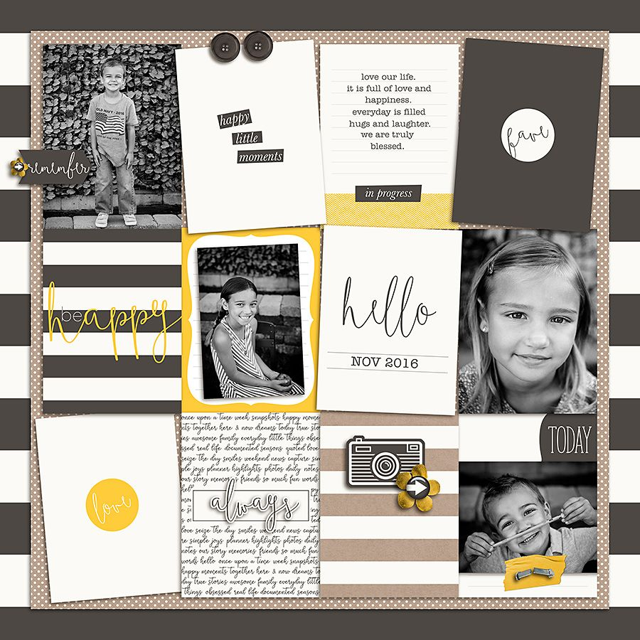 The Digital Press :: Pocket Scrapbooking :: Journaling Cards :: Documenting Everyday (2017) Bundle