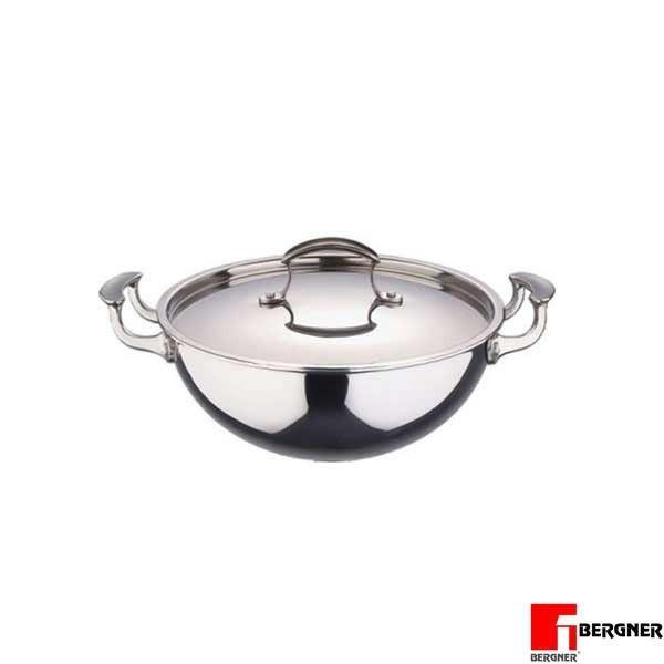 bergner chinese wok buy bergner stainless steel wok with lid 20 cm rh pinterest com