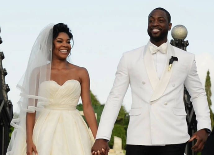 gabrielleunion and #dwyanewade release wedding video edited as a, Wedding invitations