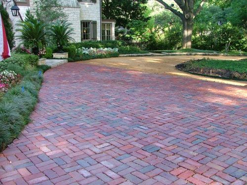 brick paver driveway brick pavers