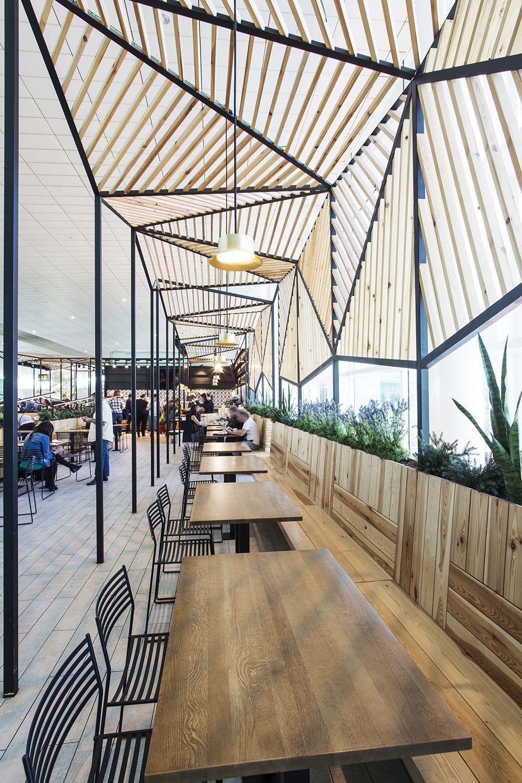 La Dehesa De Santa Maria Barcelona Airport Dear Design Canopy Design Cafe Design Canopy Architecture