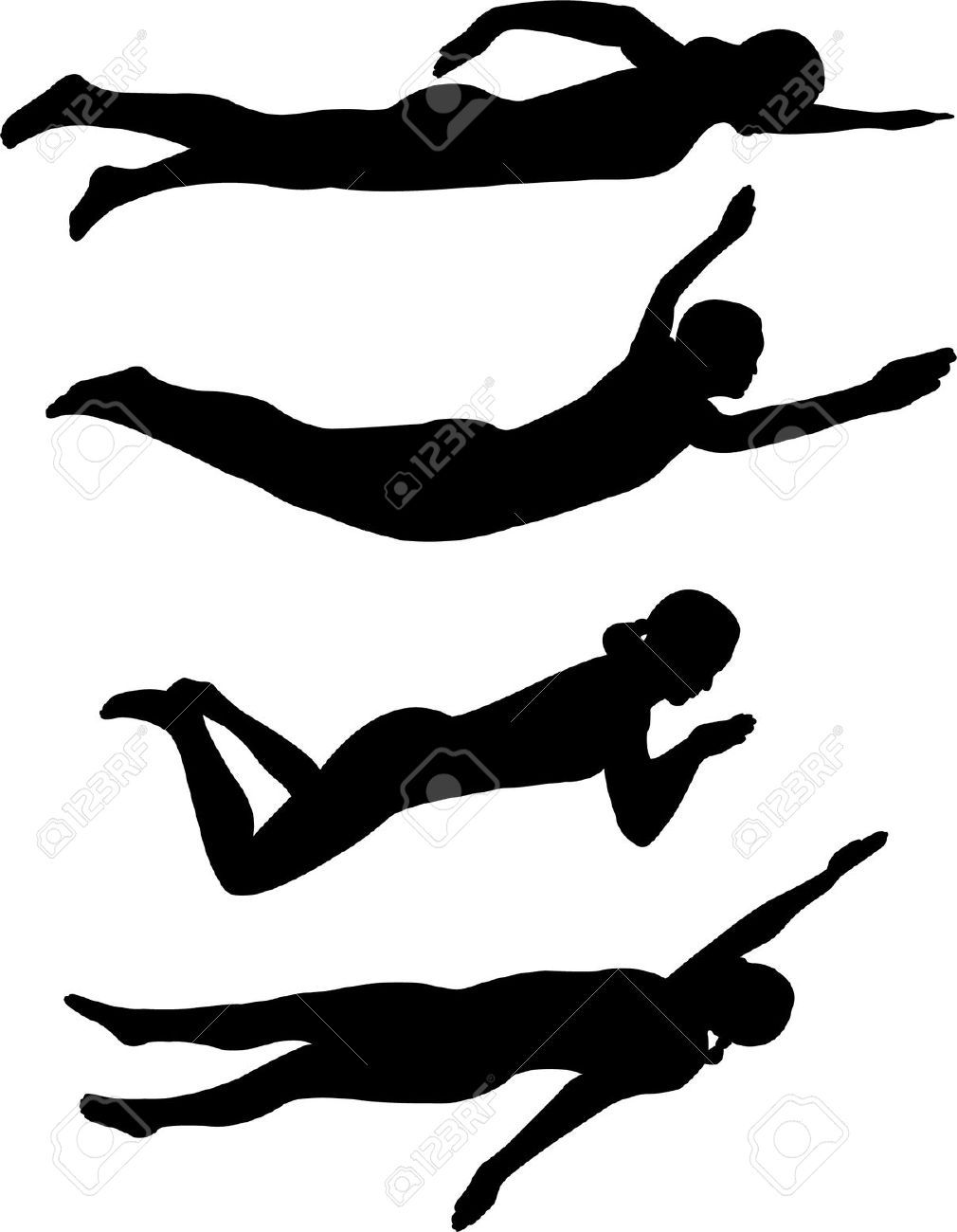 image result for competitive swimming clip art silhouette [ 1010 x 1300 Pixel ]