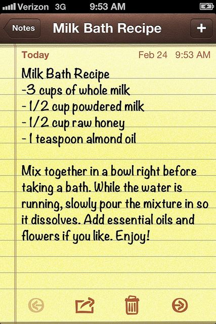 Milk bath recipe. #milkbath