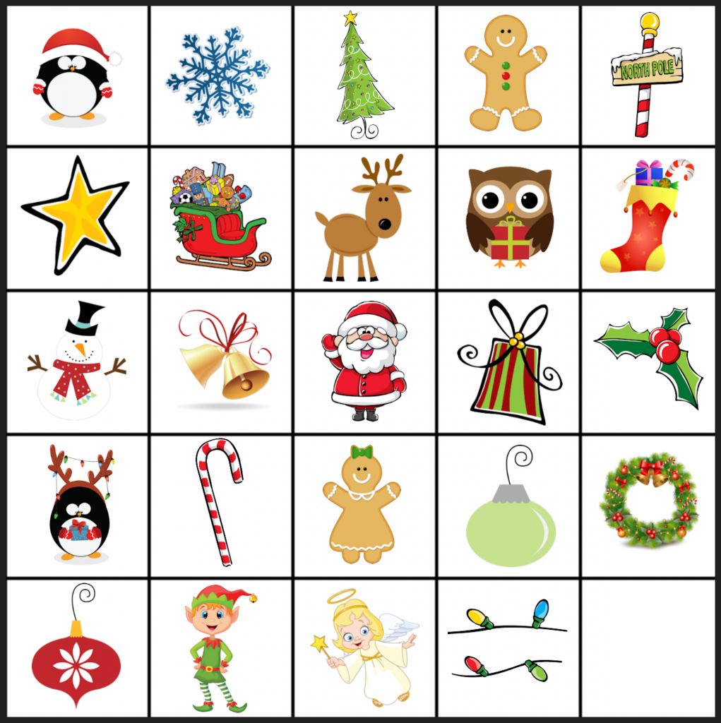 Free Printable Holiday Party Games for Kids Christmas
