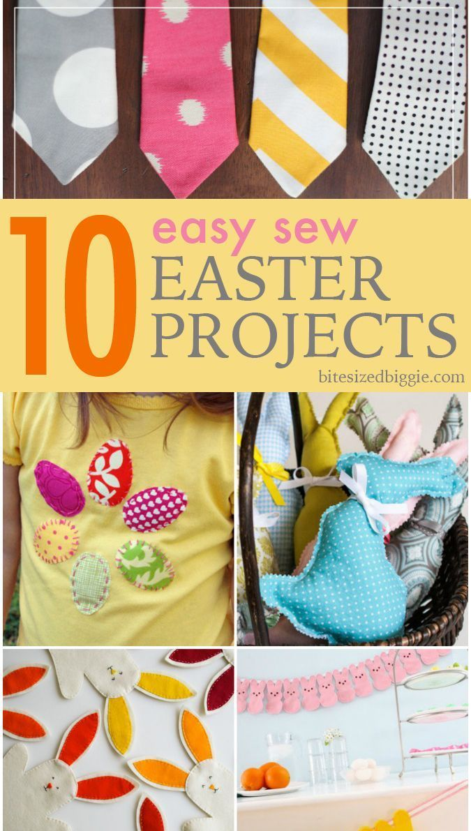 10 easy sew easter projects quick and easy easter projects 10 easy sew easter projects negle Images