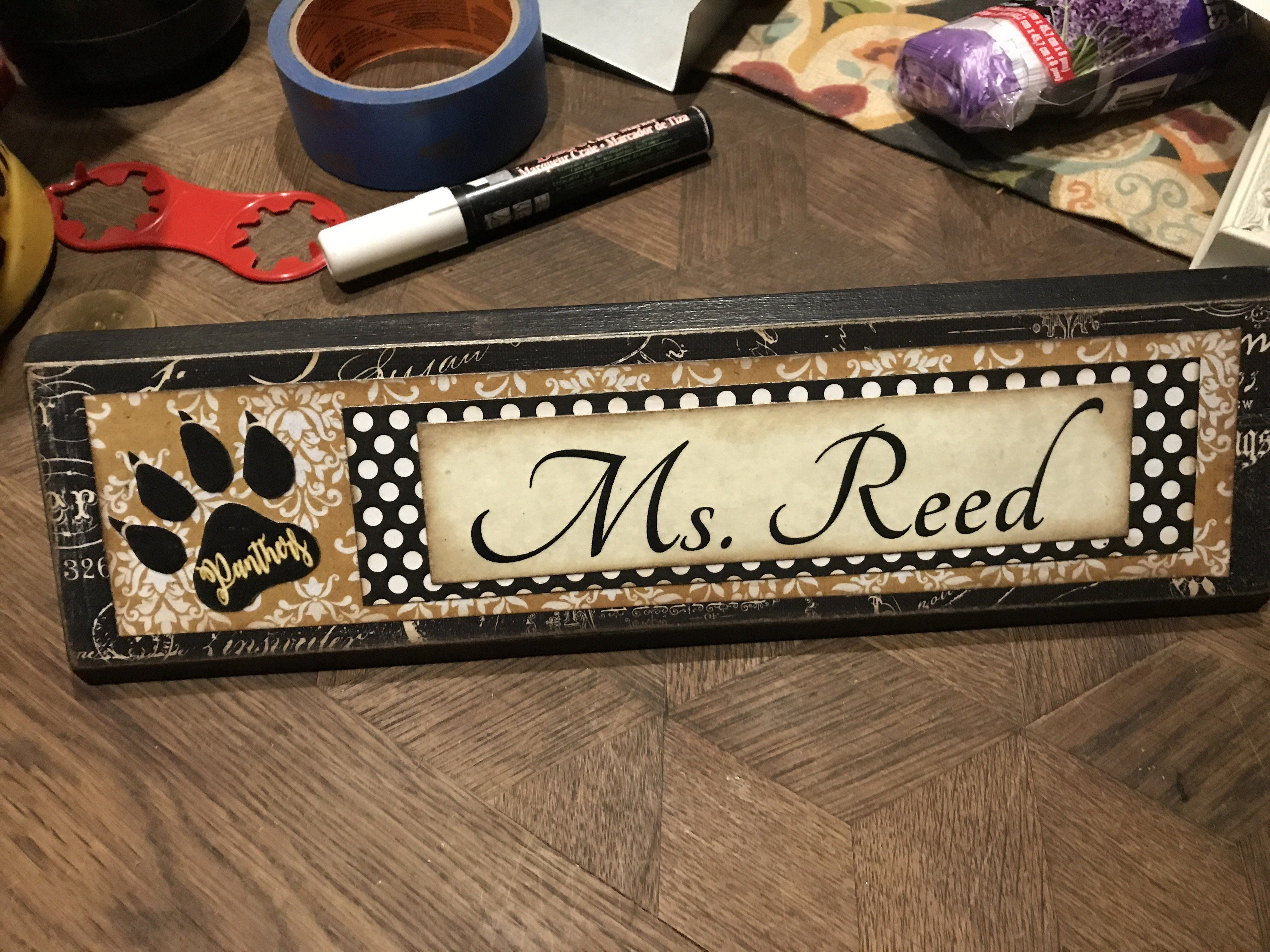 personalized desk name block plate wood block signs name blocks rh pinterest com