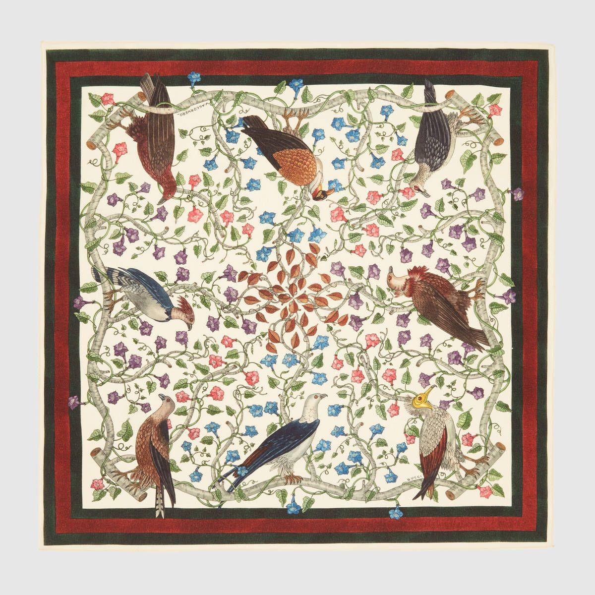 d2be6cac73 Rapaci print silk pocket square | Mr. Huffman | Silk, Gucci scarf, Gucci