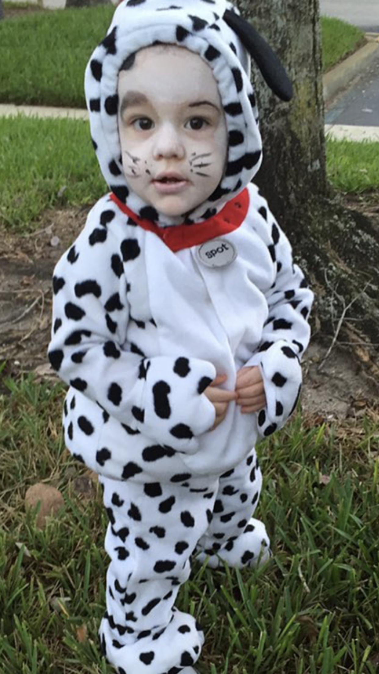 Dalmatian Halloween costume and makeup. Halloween