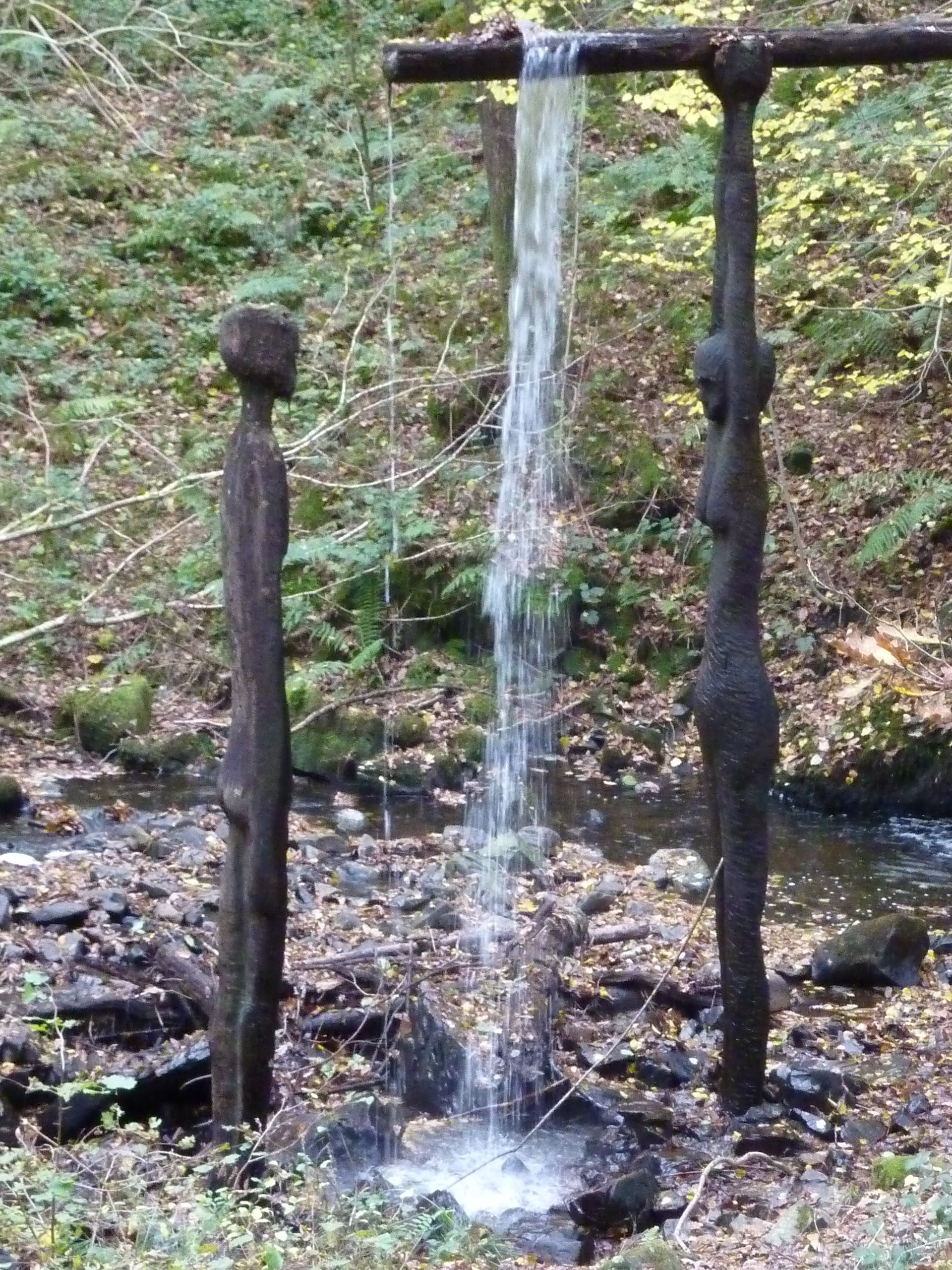 Grizedale Forest Sculpture Trail  For Gutter At Side Of