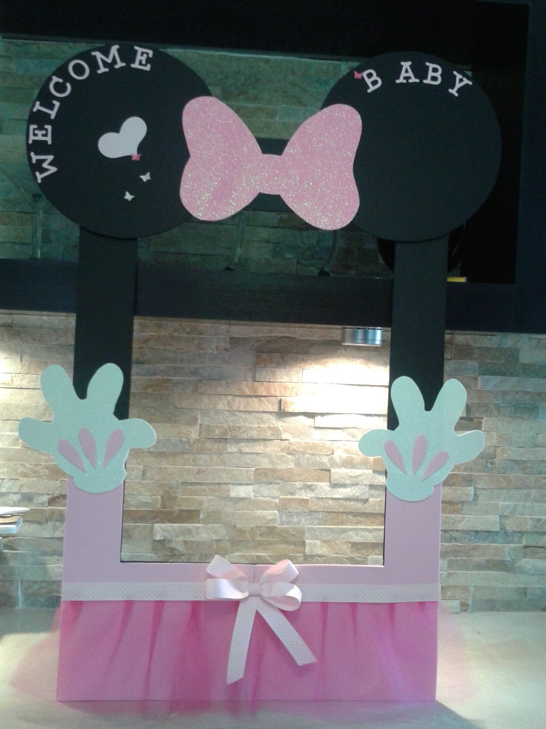 Minnie Mouse Photo Frame Minnie Photo Booth Minnie Photo