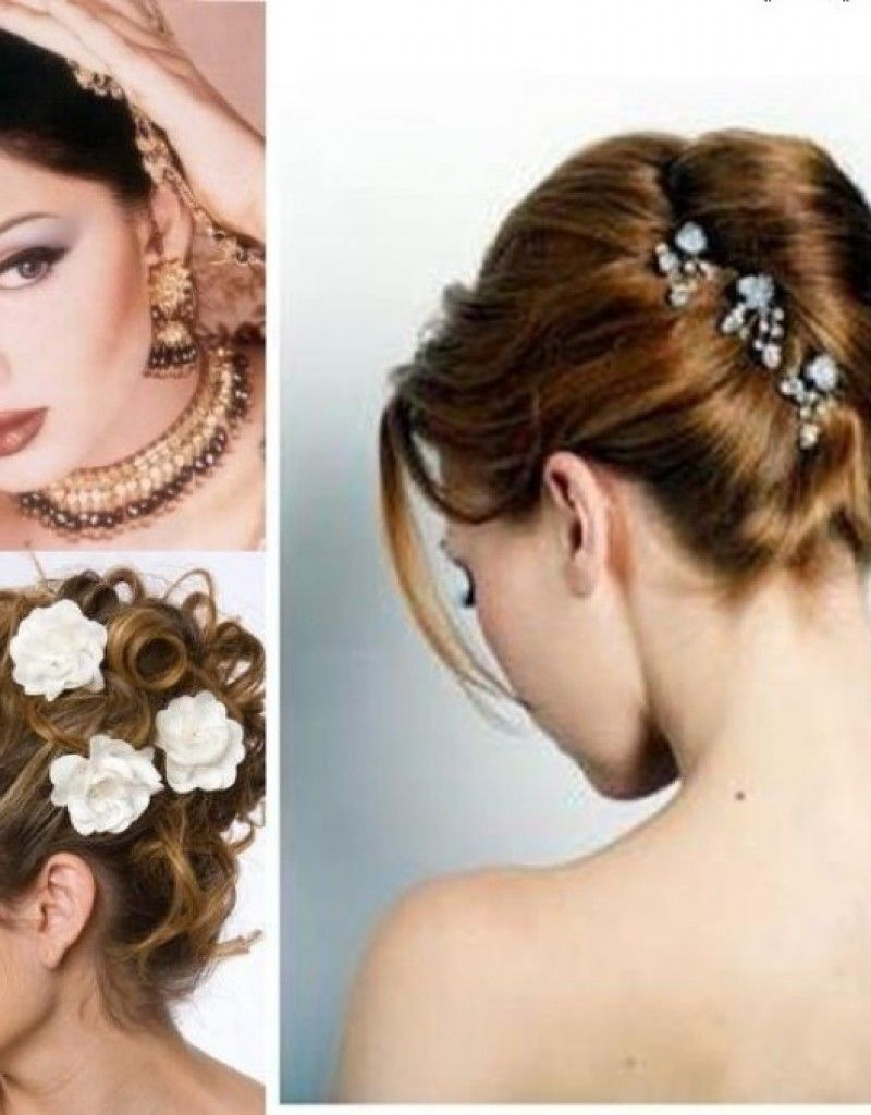 indian wedding hairstyle gallery%0A indian bridal hairstyles with dupatta