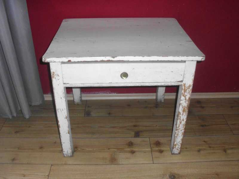 Vintage Tische - alter Küchen - Tisch, Beistelltisch Industrietisch ...