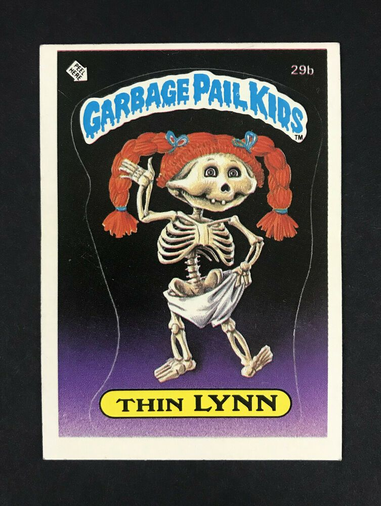 1985 Topps Garbage Pail Kids Series 1 Thin Lynn 29b Matte Back With Checklist Garbage Pail Kids Garbage Pail Kids Cards Kids Series