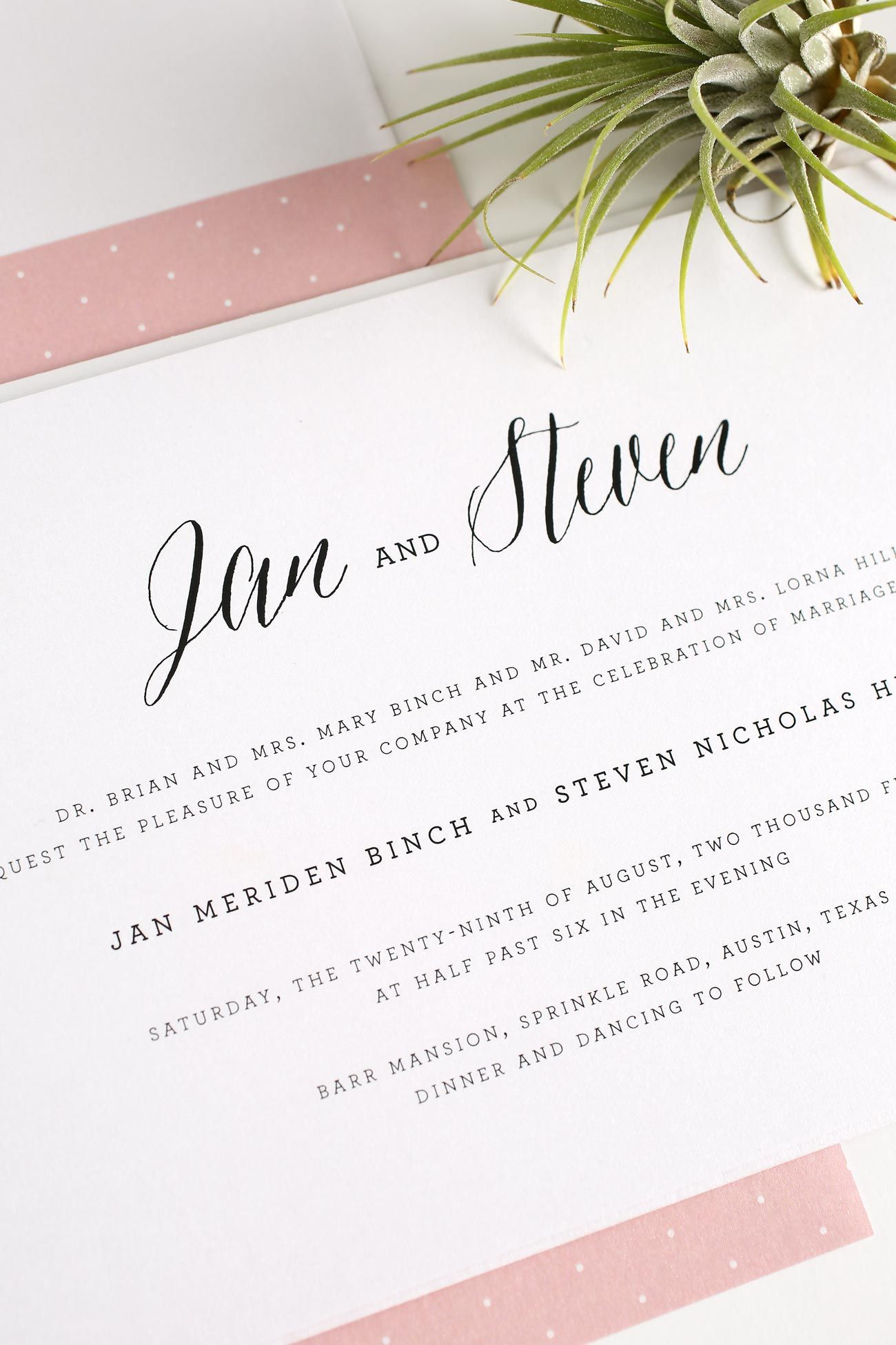 rustic wedding invitations do it yourself%0A Rustic Wedding Invitations in Blush