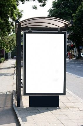 Bus Shelter Billboards Blank Template Picture Whats Wallpaper