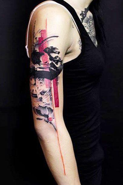 Flowers Tattoo By Klaim Street Tattoo: Time Tattoo By Klaim Street Tattoo
