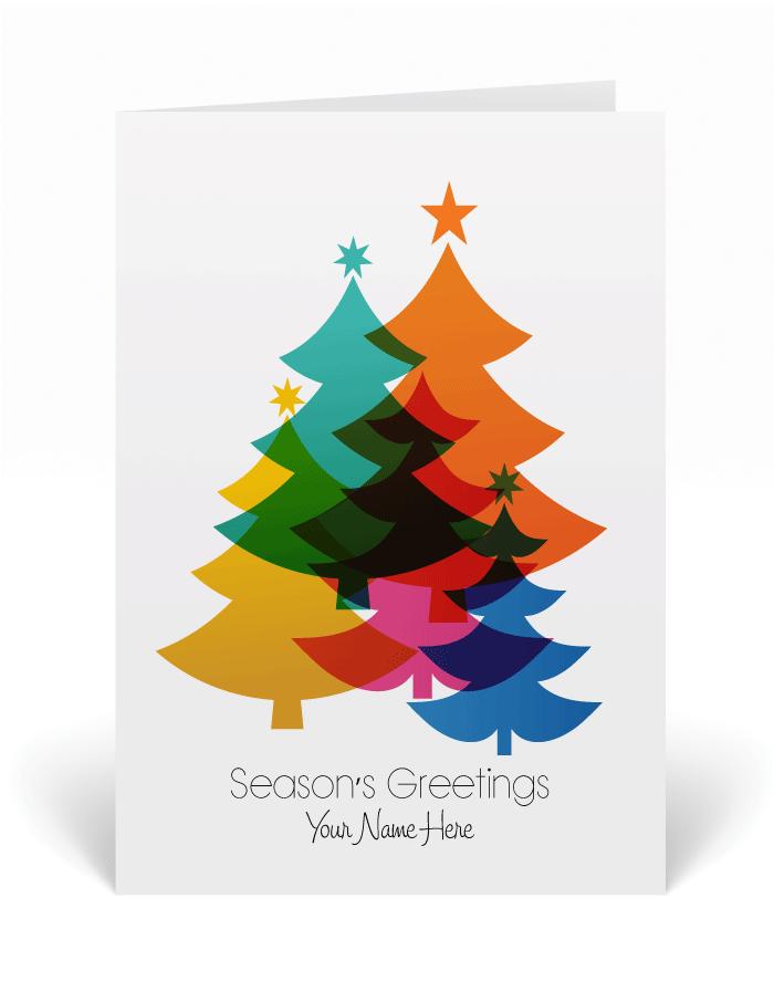Retro Modern Contemporary Holiday Cards, retro Christmas greeting ...