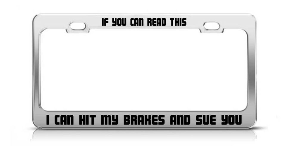 The Best License Plate Frames for Your Car or Truck | Novelty ...