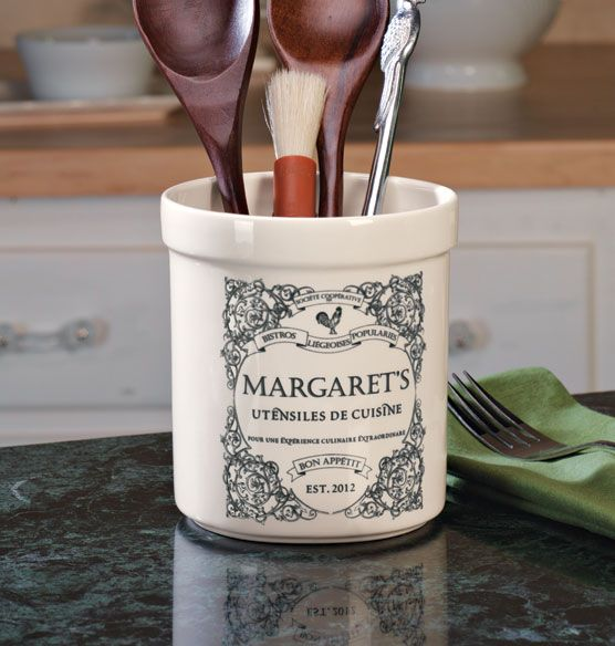 French Country Utensil Crock Personalized Only $29.95