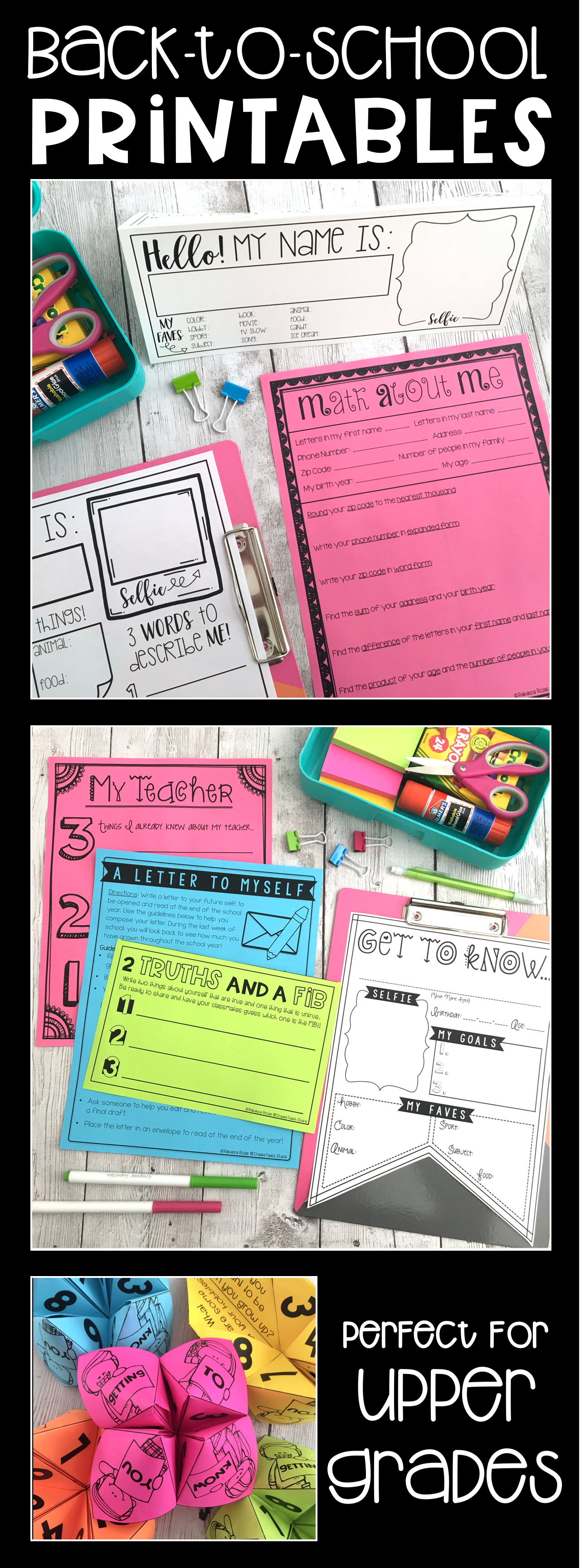 Back To School Printables For Those First Weeks Of School Lots Of Ideas And Activities For