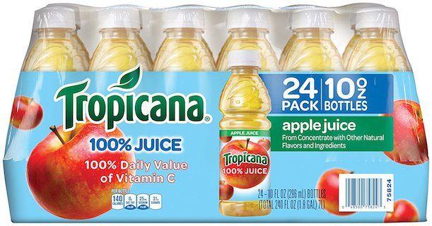 Amazon 24Pack of Tropicana Apple Juice, 10oz bottles