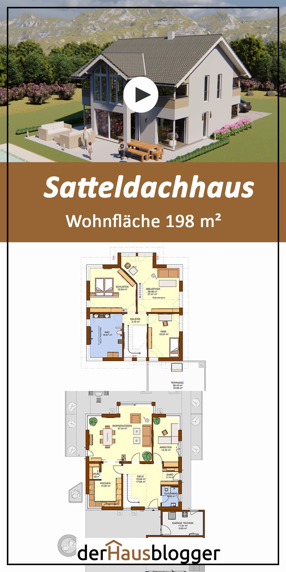 Photo of Satteldachhaus 198m2