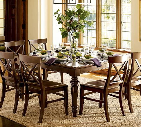 Montego Turned Leg Extending Square Table Pottery Barn Admired This Look For Some Square Dining Tables