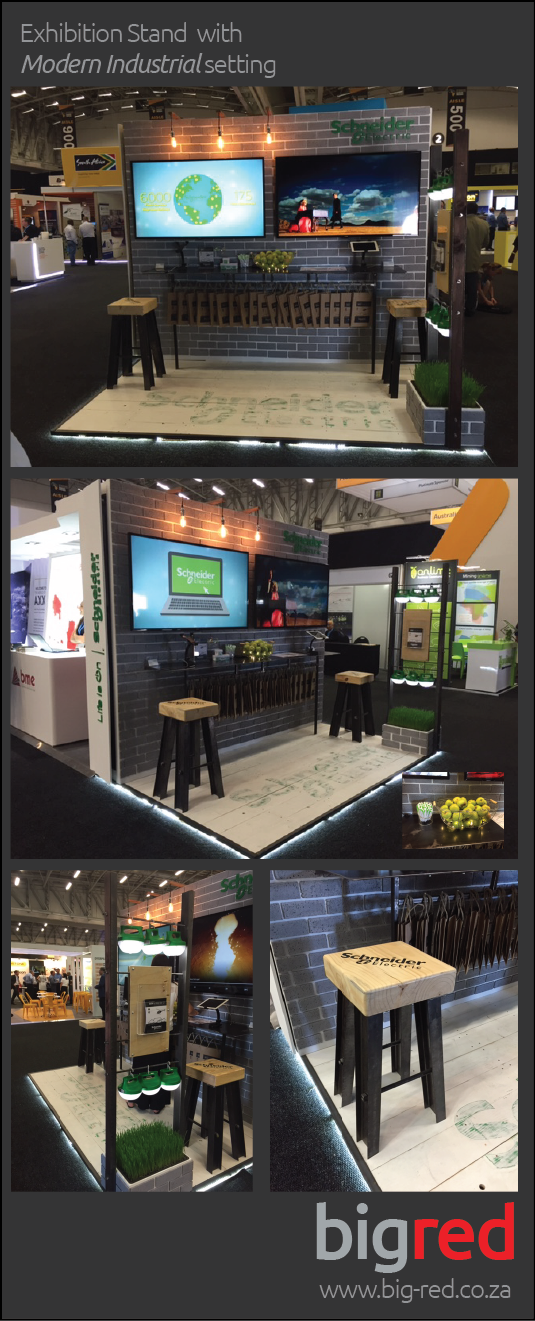 Exhibition Stand Design Decor : Small exhibition stand with modern industrial decor
