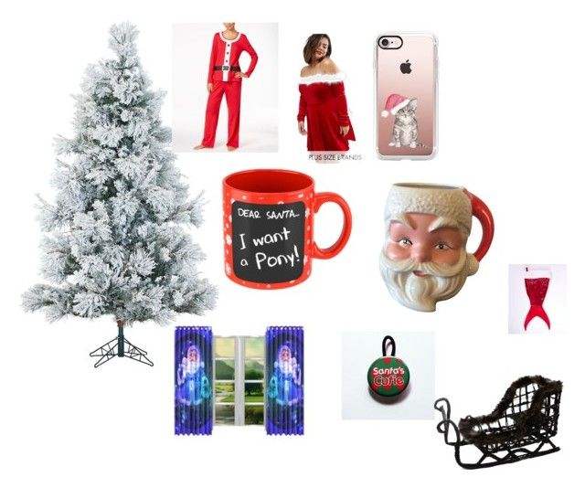 """Who dose not like Christmas 🎄 🎄🎄🎄🎄🎄🎄🎄🎄🎄🎄🎄"" by cgreen06 on Polyvore featuring interior, interiors, interior design, home, home decor, interior decorating, Fraser Hill Farms, Club L and Casetify"