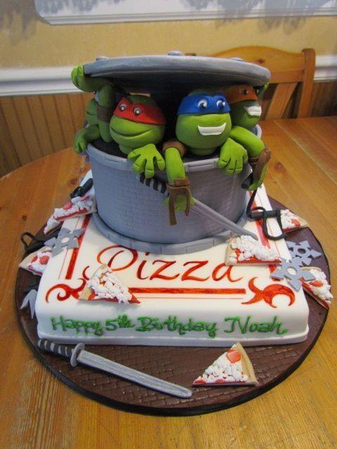 Cool Teenage Mutant Ninja Turtles Birthday Cake Pinterest Turtle