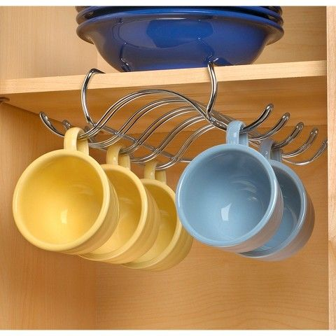 not so artsy hang the mugs under the cbainets with this smiple and rh pinterest ca