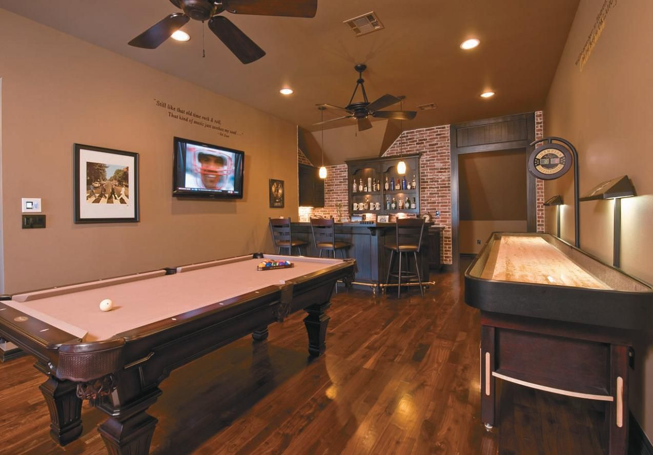 beauteous design your own house game for adults. At saturday we would to show our long brown basement game room idea with  white ceiling Game Rooms for Any Style of Play Basement rooms White
