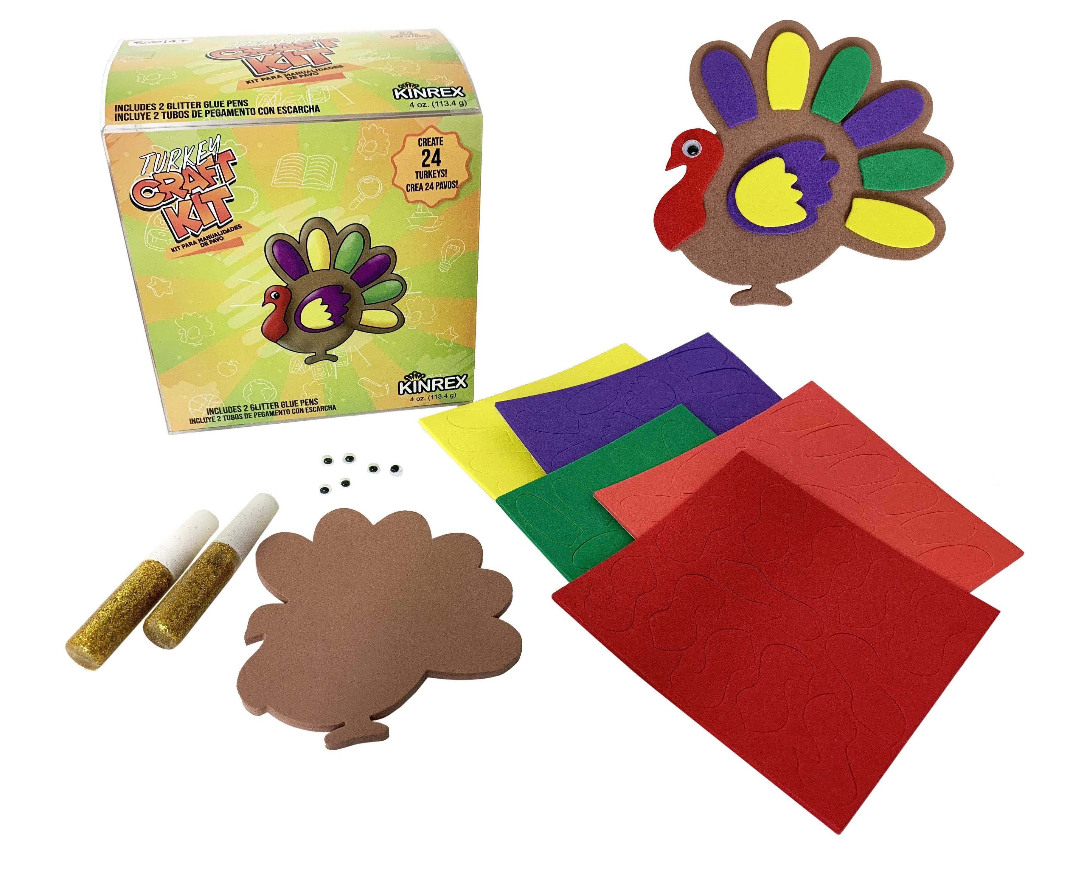 Photo of Thanksgiving Turkey Craft – Thanksgiving Decorations Kit