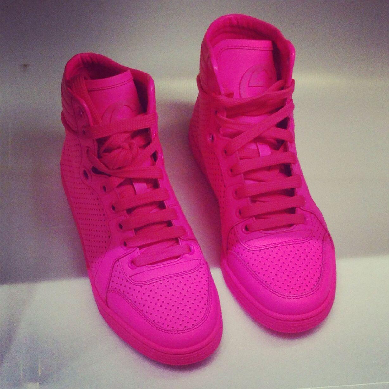 Gucci sneakers #neon #pink   Fashion I love   Gucci ...
