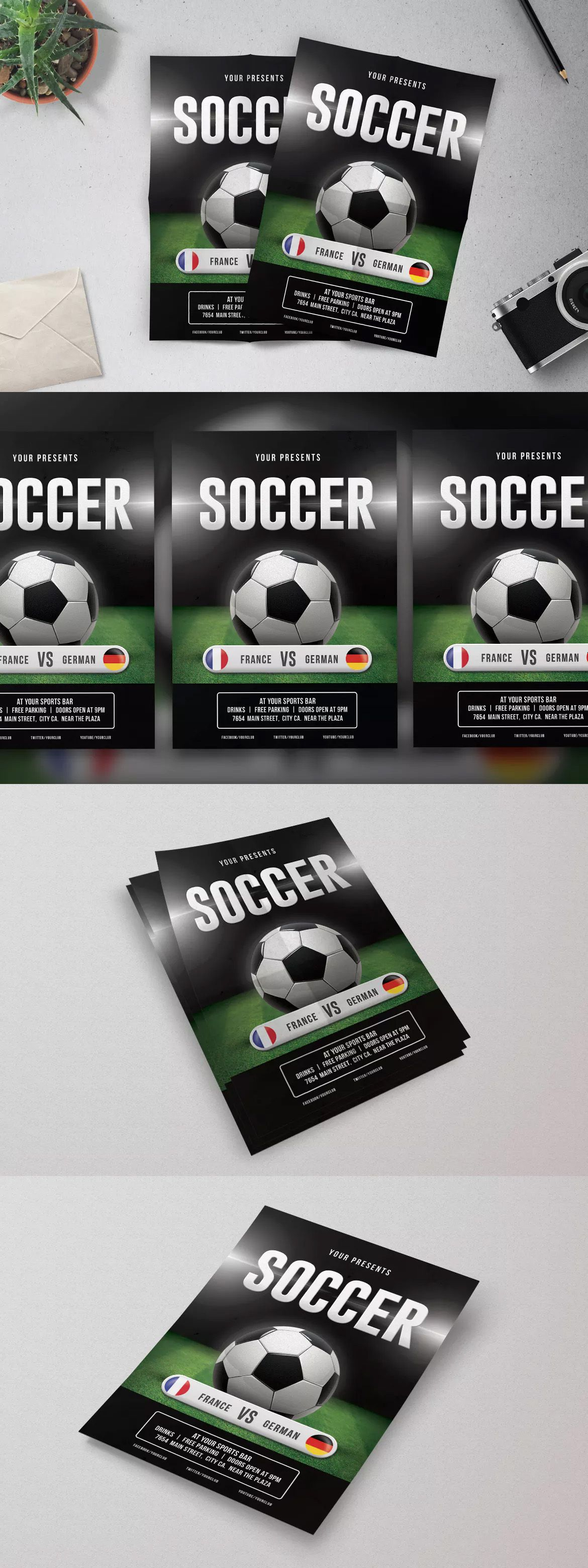 Soccer Flyer Template Psd  Flyer Templates    Flyer