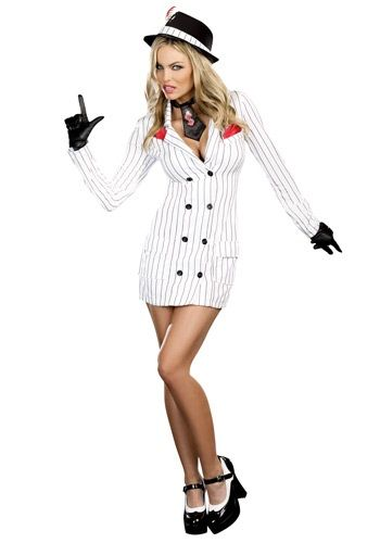 womens dirty work gangster costume - Halloween Mobster Costumes